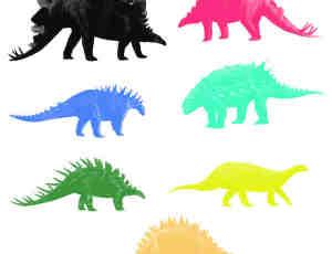 恐龙造型Photoshop笔刷素材 #.1