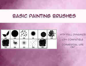 基本水粉、树叶、光斑Photoshop笔刷