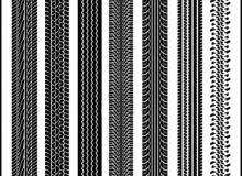7组轮胎痕迹花纹图案Photoshop笔刷素材