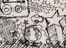 20个手绘涂鸦素材PS笔刷