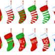 可爱卡通圣诞节袜子PSD源文件素材下载