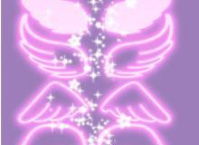 手绘荧光天使翅膀笔刷PS素材下载