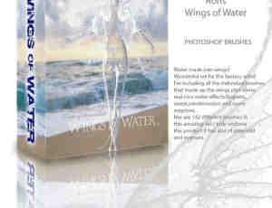 透明水翅膀、液体翅膀Photoshop笔刷素材