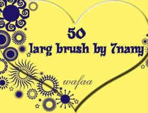 50款个性独特的罗盘花纹图案PS笔刷