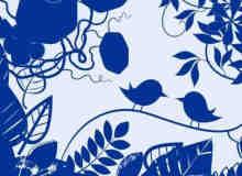 漂亮的植物花纹照片美图背景边框饰品PS笔刷 #.72