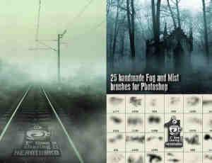 弥漫的大雾、雾气、雾霾Photoshop笔刷素材