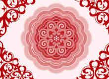 漂亮的中国式古典花纹图案Photoshop笔刷