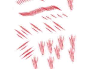 疤痕、创伤、缝合Photoshop笔刷素材