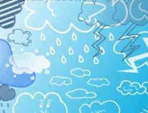 超级可爱卡通云朵Photoshop笔刷