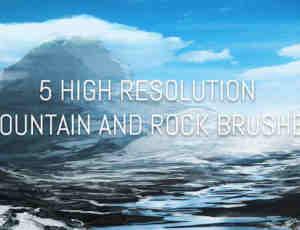 大山、岩石PS笔刷素材