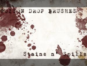 滴溅血迹、喷溅油漆效果Photoshop笔刷素材