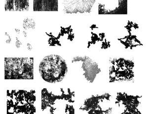 树皮、陈旧纹理Photoshop笔刷素材