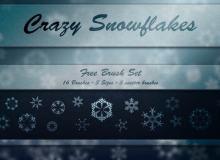 4个漂亮的雪花图案Photoshop笔刷打包下载