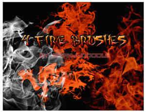 简单幽幽火焰、火光效果Photoshop笔刷