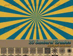 20种放射状展示类背景效果PS笔刷