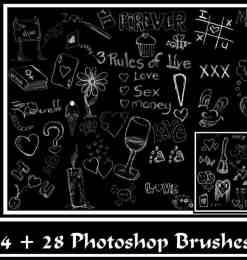 粉笔童趣黑板涂鸦PS笔刷美图素材-海量PS笔刷素材 第 161 页