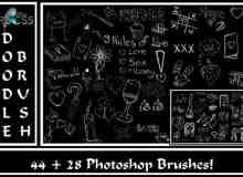 粉笔童趣黑板涂鸦PS笔刷美图素材