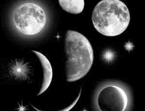 高品质月球、月亮PS笔刷素材下载