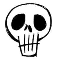 卡哇伊手绘骷髅头图案PS笔刷