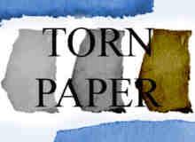 撕纸羊皮纸PS笔刷