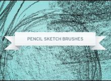 蜡笔涂抹纹理效果PS笔刷下载