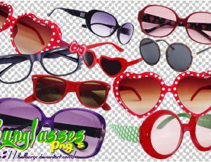 超级可爱时尚眼镜装扮美图秀秀PNG素材下载