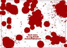 简单血迹、油漆滴溅效果PS笔刷素材