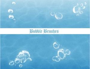 水中真实气泡、水泡Photoshop笔刷素材