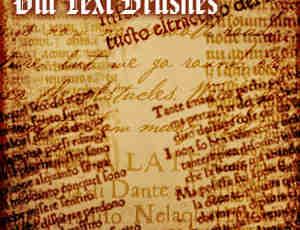 破旧古英文书信字、有岁月的英文文字Photoshop笔刷