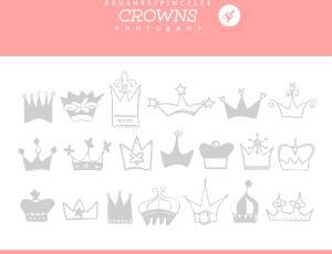可爱的涂鸦皇冠Photoshop童趣笔刷