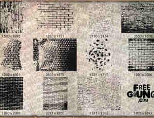 墙壁砖头纹理图形Photoshop笔刷素材