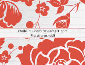 玫瑰花花纹、印花图案矢量形状Photoshop笔刷