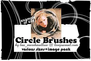 简单的同心圆线圈组合Photoshop笔刷