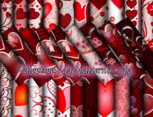 情人节主题专用爱心、爱情、婚礼背景PS图案填充素材