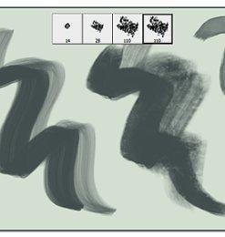 4个简单的艺术绘画笔触素材Photoshop笔刷下载-画笔笔刷 第 12 页图片