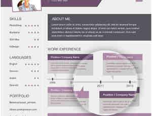 国外网络简历平面设计PSD素材下载