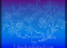 漂亮的鲜花印花图案素材PS笔刷