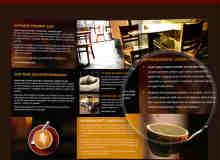 三折页:咖啡厅宣传手册PSD设计素材源文件下载