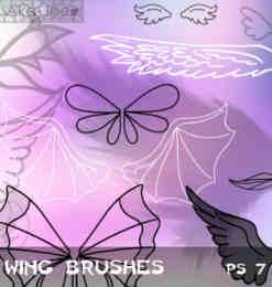 ps蝴蝶翅膀笔刷_翅膀笔刷 : PS笔刷吧-笔刷免费下载 | 第 2 页