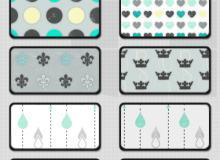 18种符号背景无缝拼接PS填充素材下载