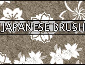漂亮的日本印花花纹图案Photoshop笔刷