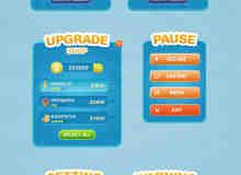 手机APP游戏程序UI设计界面素材PSD源文件下载