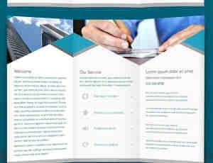 企业宣传册三折页设计PSD素材下载