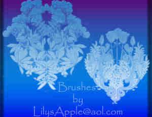 花团锦簇、花卉花纹图案Photoshop印花笔刷