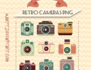可爱卡通相机造型PNG格式美图秀秀素材包下载