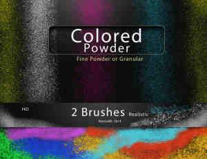 七彩颗粒、粉尘、灰尘效果Photoshop笔刷素材