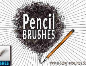 20个免费铅笔画笔PS笔刷素材下载