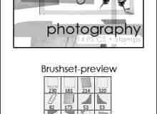 相片相框边角边框素材Photoshop美图笔刷