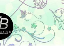 植物蝴蝶艺术花纹图案饰品Photoshop笔刷素材