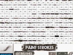 150种超级油漆、水墨划痕样式PS笔刷下载